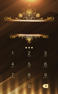 Abstract Gold Metal Android Theme Mobile Theme