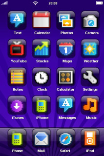 Purple Daze IPhone Theme Mobile Theme
