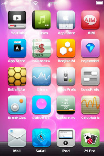 Pink Abstract Bubble Soft IPhone Theme Mobile Theme