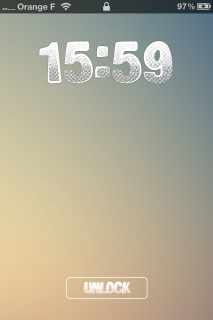 Lovely Clock Big View IPhone Theme Mobile Theme