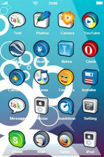 Circles White Toon IPhone Theme Mobile Theme