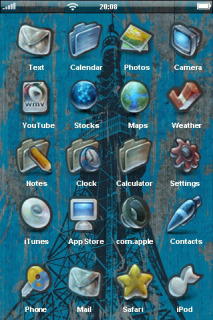 Abstract Tower Sketch IPhone Theme Mobile Theme