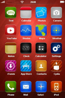 Red Abstract 3D Rozze IPhone Theme Mobile Theme
