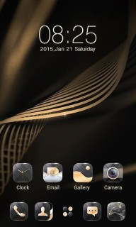Brown Background Golden Lines Android Theme Mobile Theme