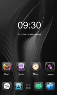 Dark Abstract Lines Art Android Theme Mobile Theme