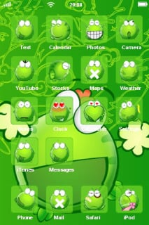 Frog Green Art Animal IPhone Theme Mobile Theme