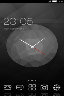 Abtract Black Art Clock Android Theme Mobile Theme