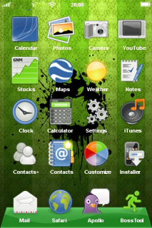 Green 3D Abstract Design New IPhone Theme Mobile Theme