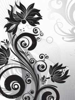 Black Flower Mobile Theme