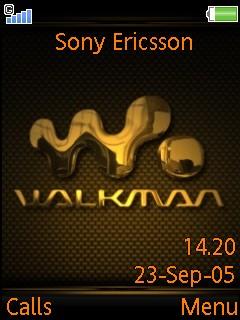 Walkman Gold Mobile Theme
