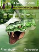 Animated 3d Snake Mobile Theme