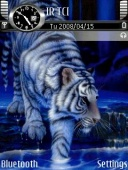 Animated Tiger Mobile Theme