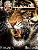 Animated Tiger Mobile Theme
