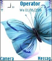 Blue Butterfly Nokia Theme Mobile Theme