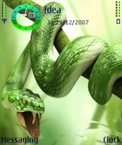 Green Snake Nokia Theme Mobile Theme