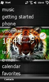 3D Tiger Htc Theme Mobile Theme
