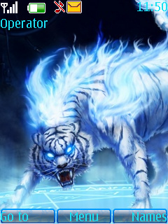 Blue Tiger Theme Mobile Theme