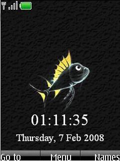 Fish Clock Mobile Theme