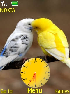 Love Birds With Tone Mobile Theme