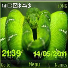 Green Snake Mobile Theme