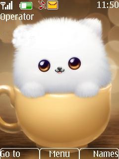 White Cat Mobile Theme
