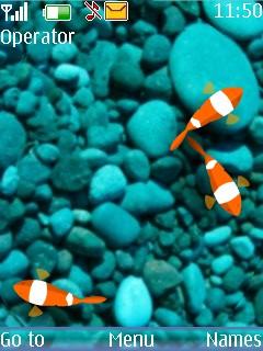 Animated Aquarium Mobile Theme