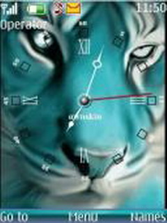 Animated Tiger Clock Mobile Theme