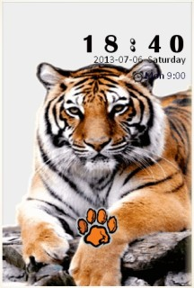 Cute Tiger Clock Android Theme Mobile Theme