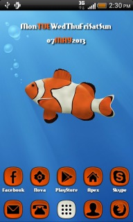 Lovely Clown Fish Android Theme Mobile Theme