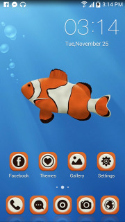 Clown Fish In Water Android Theme Mobile Theme