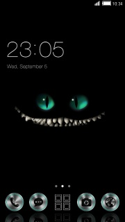Black Dirty Cat Teeth Android Theme Mobile Theme