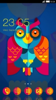 Colorful Design Owl Android Theme Mobile Theme