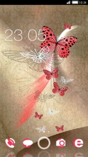 Butterflies Cute Android Theme Mobile Theme