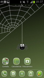 Funny Crazy Spider Style Android Theme Mobile Theme