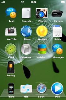 Flying Dandelion Animal Field IPhone Theme Mobile Theme