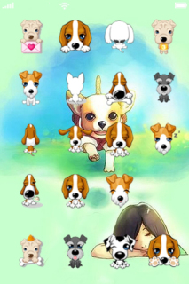 Cute Dogs Style IPhone Theme Mobile Theme