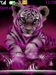 Pink Tiger Mobile Theme