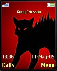 Black Cat Mobile Theme