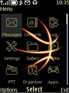 Basketball Abstract Mobile Theme