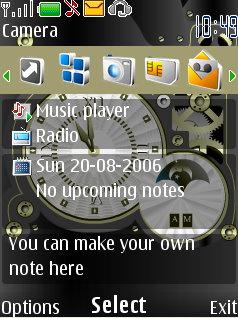 Mechanical Clock Theme Mobile Theme