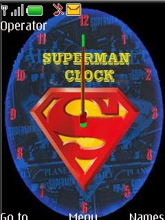 Superman With Clock Mobile Theme