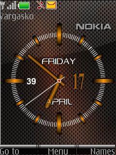 Carbon Clock Mobile Theme