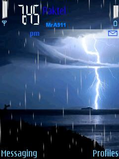Animated Rain Mobile Theme