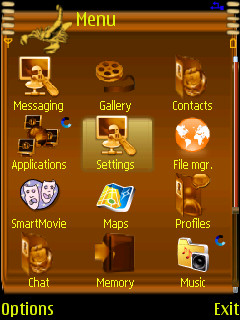 Golden Clock Mobile Theme