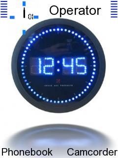 Digital Clock Mobile Theme
