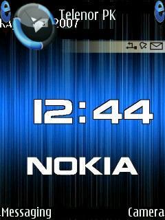 Animated Nokia Clock Mobile Theme