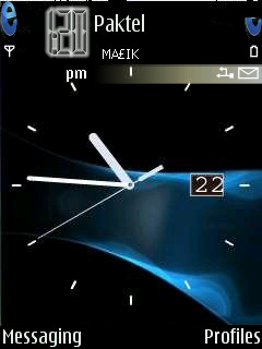 Swf Animated Clock Mobile Theme