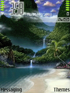 Animated Waterfall Mobile Theme