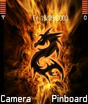 Dragon Fire Mobile Theme