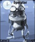 Animated Crazy Frog Mobile Theme